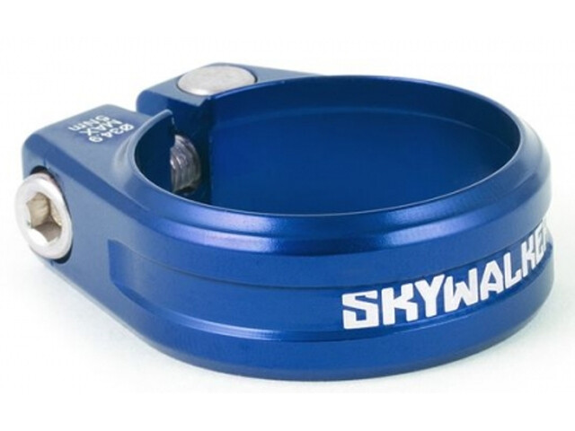 Sixpack Skywalker Saddle Clamp 35 mm, for shaft coupling, blue